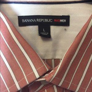 Banana Republic Shirts - Banana Republic Red Mad Men Shirt Men's Size L